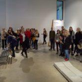 Loovuse mooduli õpilased Eesti Kunstiakadeemia avatud uste päeval